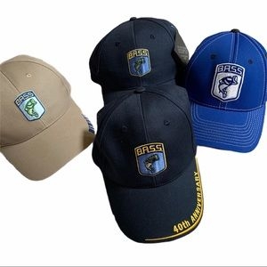 Bundle of 4 K-Products B.A.S.S. Fishing Hats
